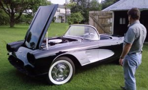 1961 Vette The owner checking it out2